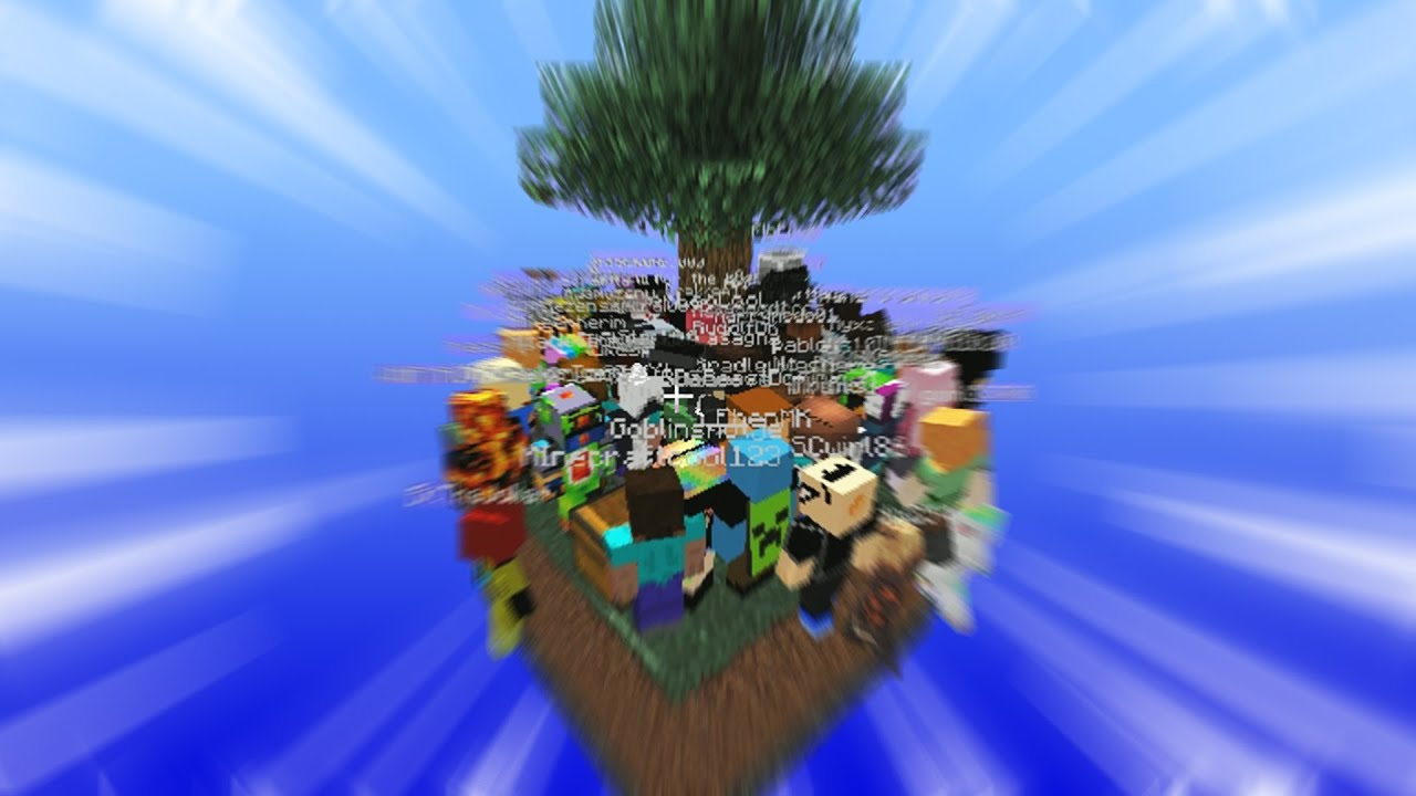 Download We tried to play skyblock with 100 players...