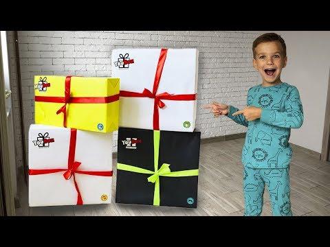 Распаковка YouBox. Мама заказала Марку Сюрпириз Боксы!