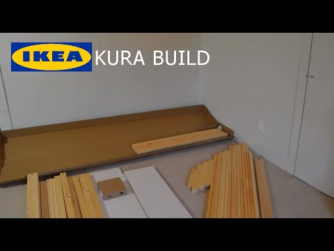 Putting Together The Kura Ikea Reversible Bed Assembly Upside Down 1