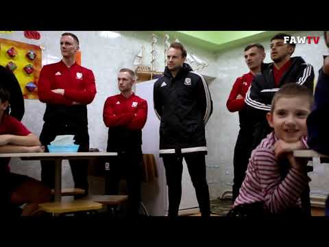 Wales futsal team visit orphanage in Moldova