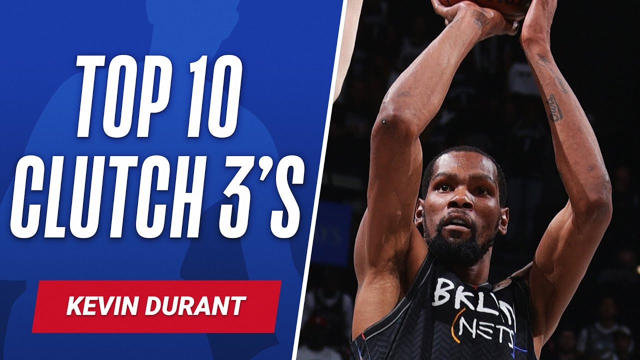🎯 Kevin Durant's Top 10 Career CLUTCH 3's! ♨