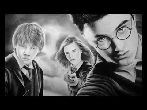 Drawing Harry Potter Hermione And Ron