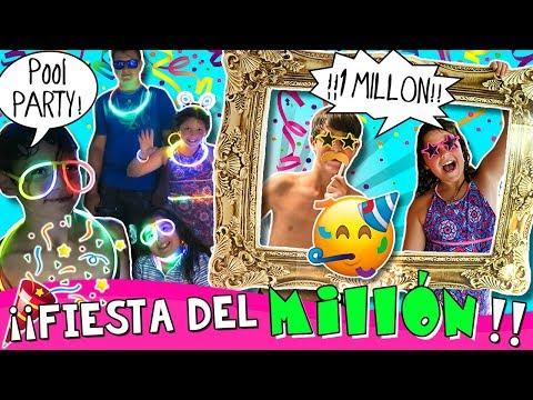 🎉 Celebramos el MILLÓN de suscriptores!! 😃 ¡¡POOL PARTY en nuestra NUEVA CASA!! 🏡