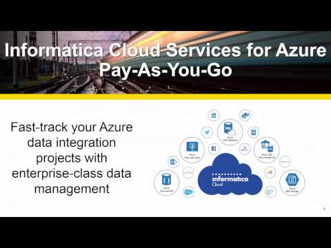 Informatica Cloud Services for Azure – Pay-As-You-Go