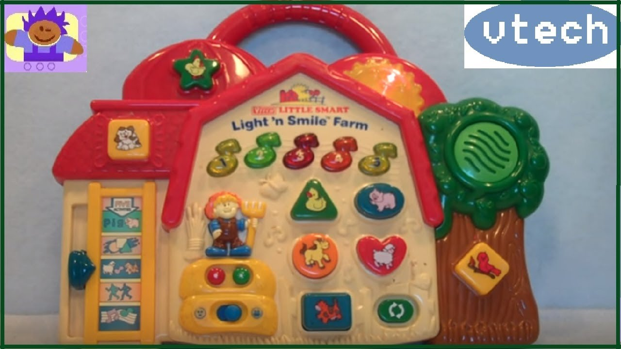 Smile Educational Toys : Vtech little smart light n smile farm educational
