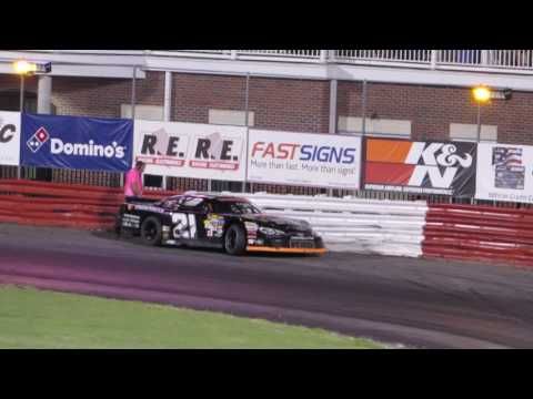 Bowman Gray 7-15-17 Sportsman Race Taylor Branch spins Tommy Neal -Part 1