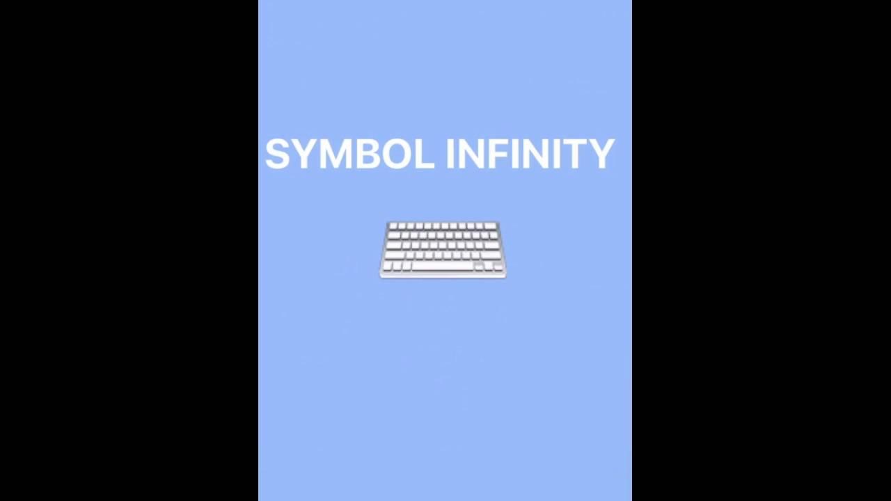 Symbol Infinity 20 Cute Kaomoji Special Unicode Characters