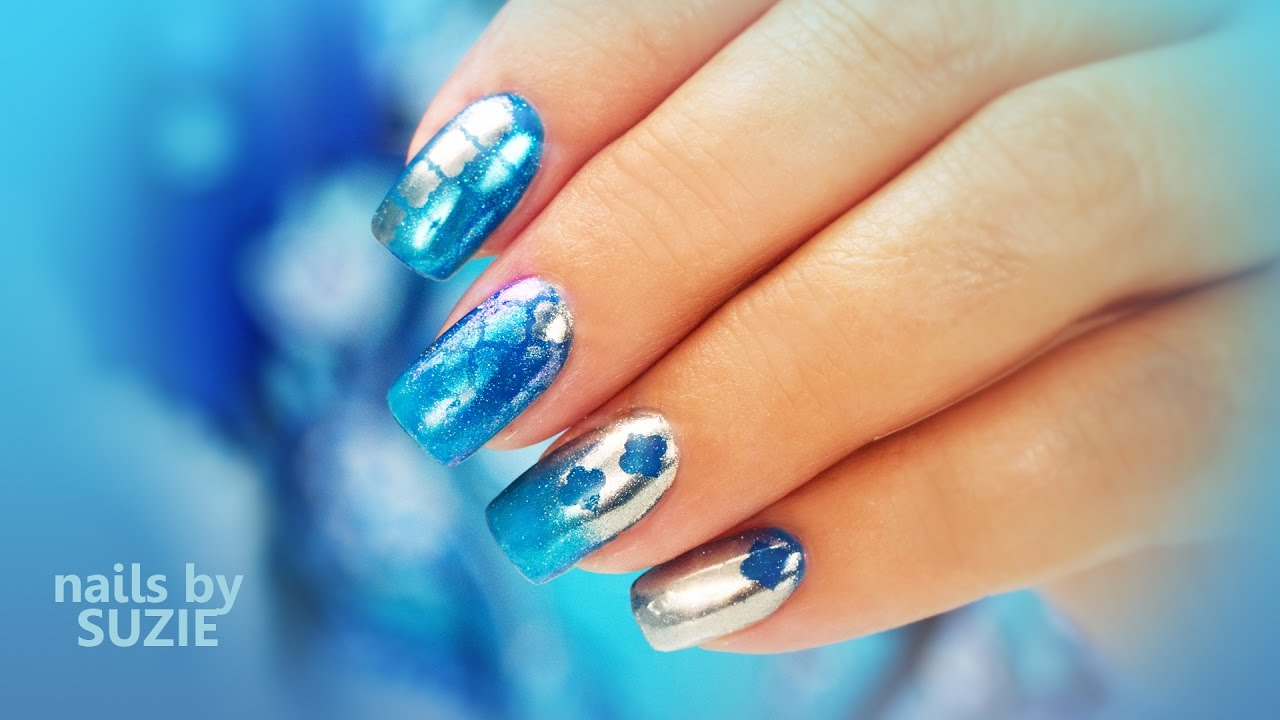 mixing chrome with nail vinyls stencils