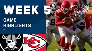 Raiders vs. Chiefs Week 5 Highlights | NFL 2020