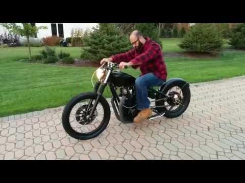 Repeat Yamaha XS650 bobber 277° rephased 750cc big bore kick