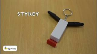 4 in 1 Key chain Mobile stand with stylus & pen