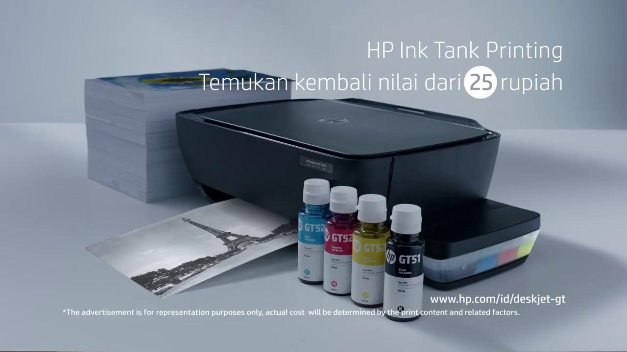 Hp Deskjet Gt 5810 Hitam Daftar Harga Terlengkap Indonesia Terkini Tinta Original Gt51 Black M0h57a 90ml Refill Printer Gt5810 5820 All In One