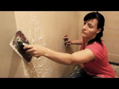 Как наносить декоративную штукатурку на стены видео