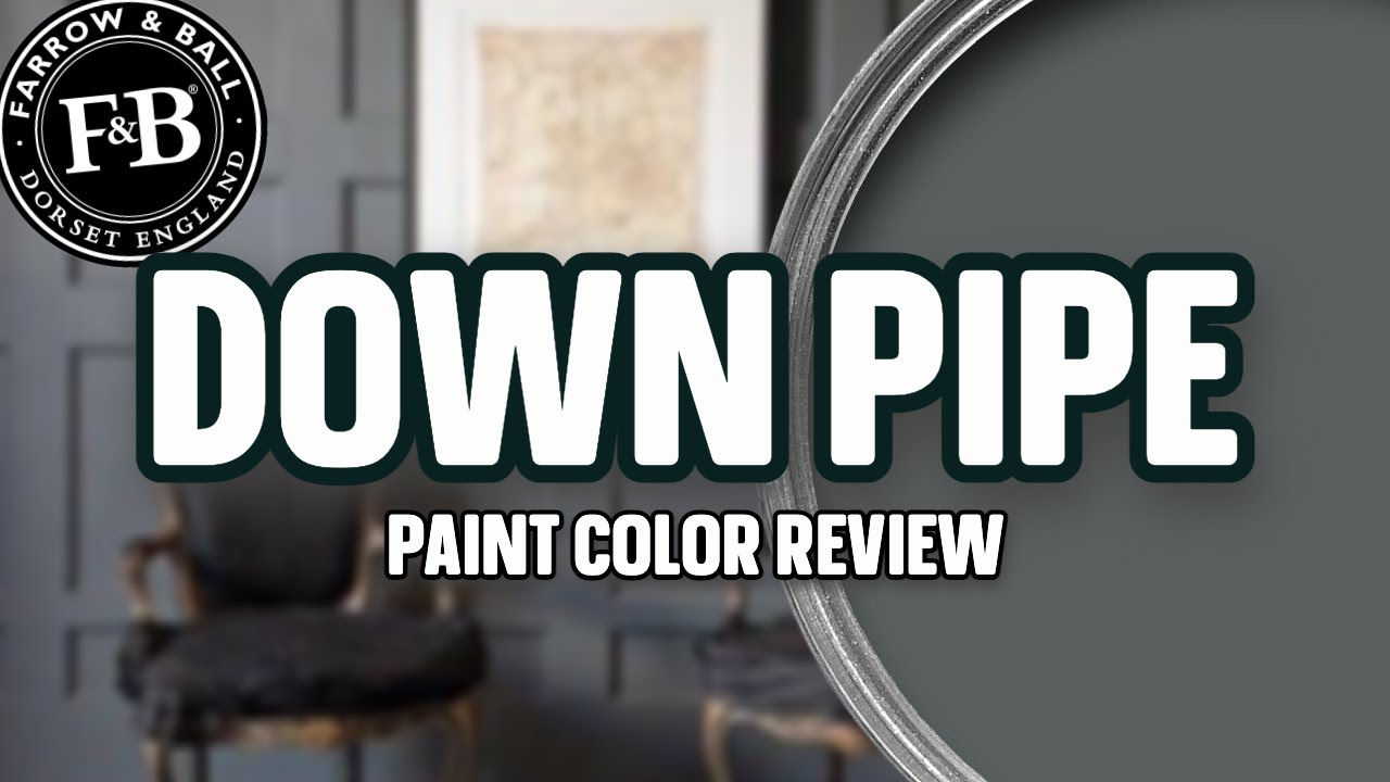 A DIVINE DARK GRAY COLOR! *Down Pipe Farrow and Ball Paint Review*