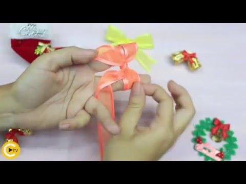 Học nhanh cách thắt nơ siêu dễ cho Noel