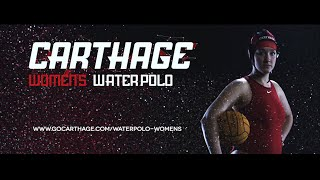 Carthage Collge Women's Water Polo Feature Video