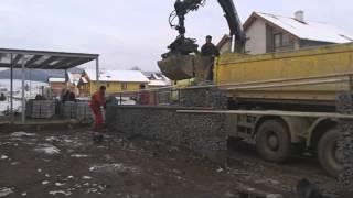 ERNYMAK- Gabionové oplotenie rod. domu v obci Klčov, 11/2014