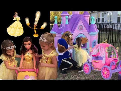 Thumbnail: Disney Princess Castle Belle Beauty and the Beast Carriage Dress Up Halloween Costumes