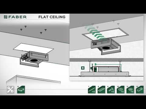 Faber Air Matters - Flat Ceiling Hood Installation - YouTube