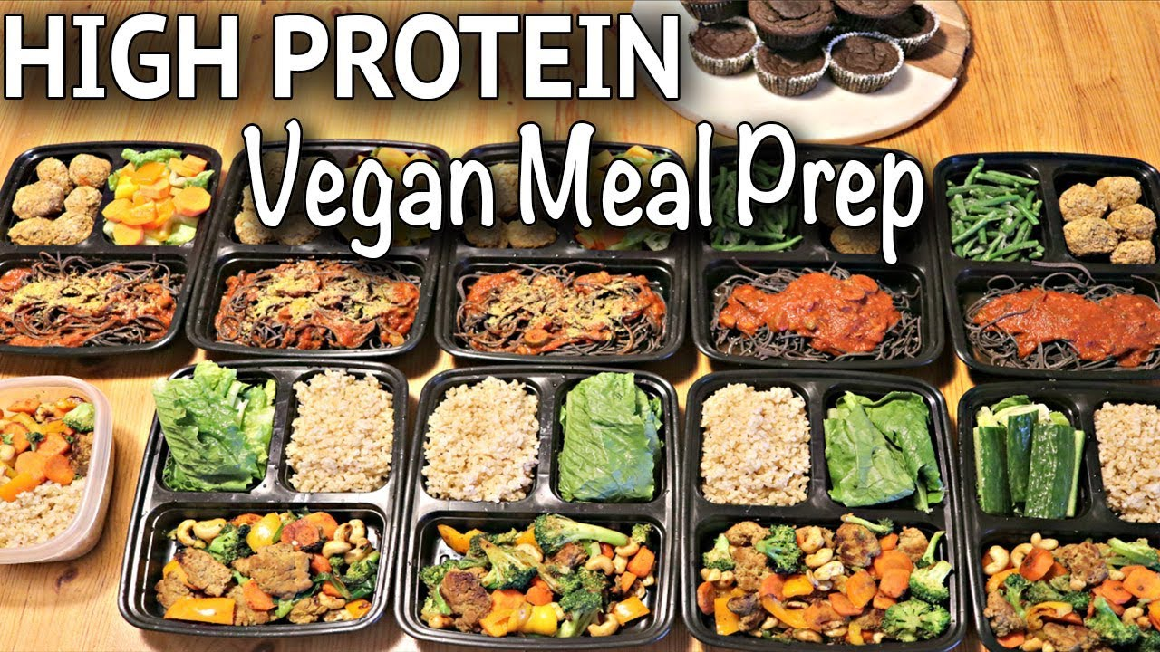 vegan meal prep for the week (high protein / gluten-free recipes