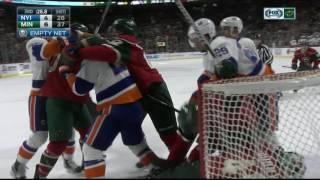 MN Wild vs  NY Islanders 12 29 16