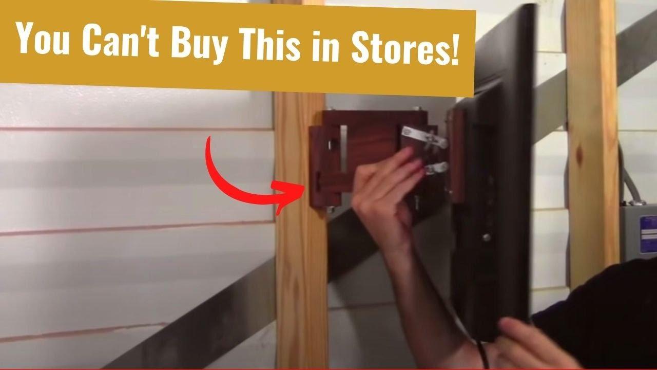 Build a Flat Screen TV Wall Mount  YouTube