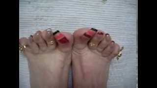 Repeat youtube video playing with my long toenails 001