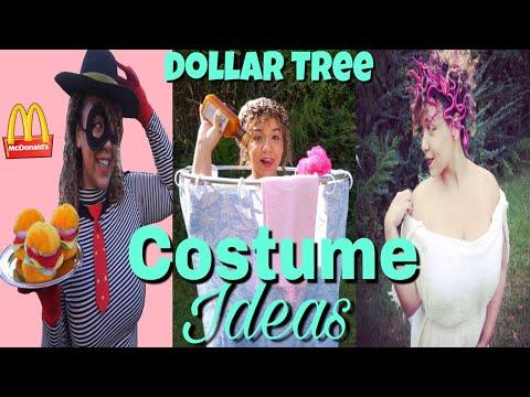 Dollar Tree DIY Halloween Costume Ideas | Dollar Tree Costume Challenge