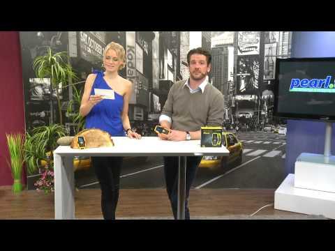 simvalley MOBILE Wasser- & stoßfestes Outdoor-Solar-Handy XT-520SUN