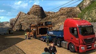 Euro Truck Simulator 2. Шасси самосвала  55т #3 (руль logitech g29)
