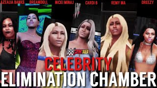 WWE 2K18 | Azealia Banks vs Dreamdoll vs Nicki Minaj vs Cardi B vs Remy Ma Vs Dreezy [Chamber Match]