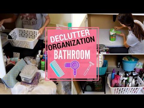 BATHROOM DECLUTTER & ORGANIZATION | SPEED CLEANING