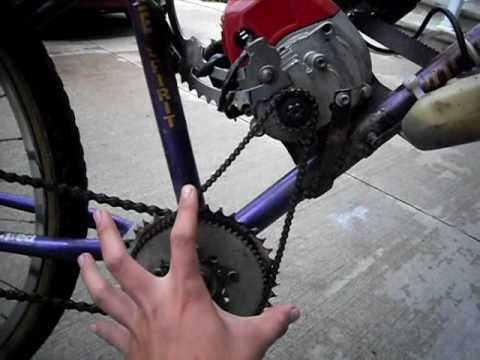 homemade 33cc gas motorized bicycle youtube. Black Bedroom Furniture Sets. Home Design Ideas