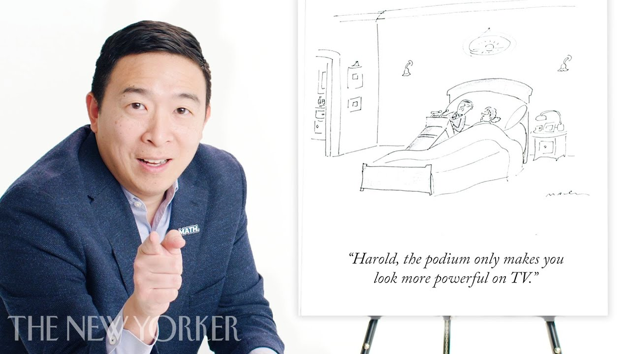 Andrew Yang Enters The New Yorker S Cartoon Caption Contest The New Yorker Youtube