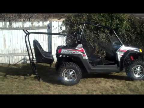Polaris Rzr Back Seat And Roll Cage Installation Youtube