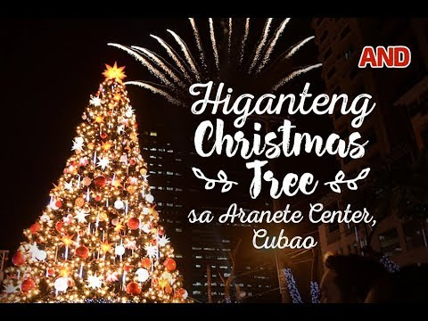 Higanteng Christmas tree sa Araneta Center, Cubao