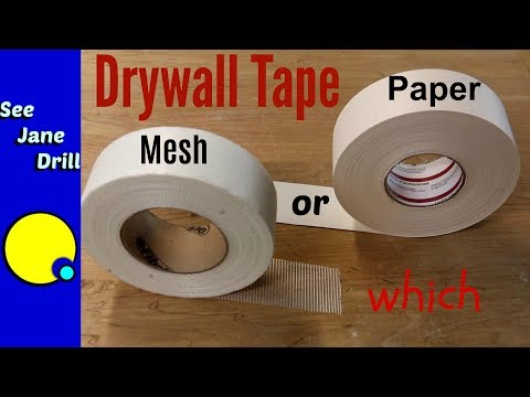 Which Drywall Tape is Better: Paper or Mesh? indir