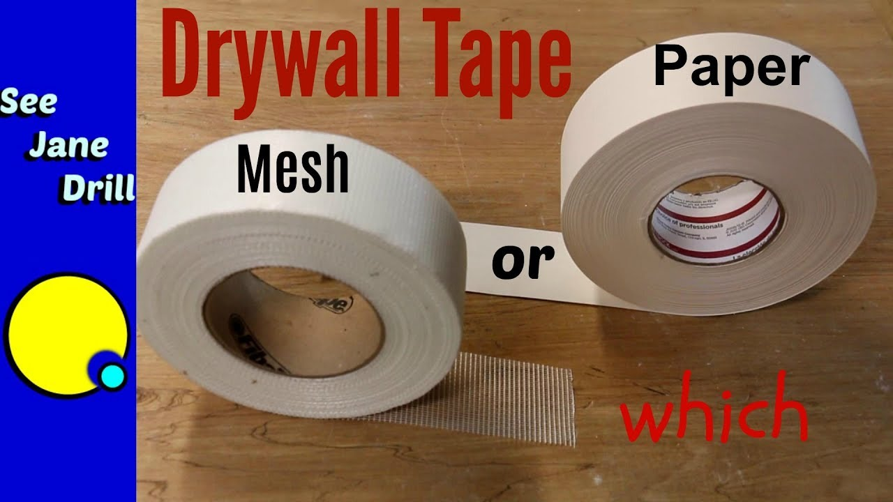 Mesh Sheetrock Tape : Which drywall tape is better paper or mesh youtube