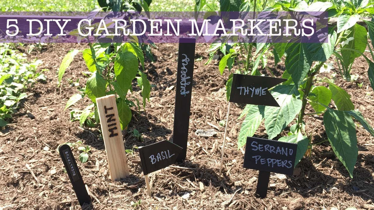 5 CHEAP U0026 EASY | DIY Plant Markers/ Garden Labels