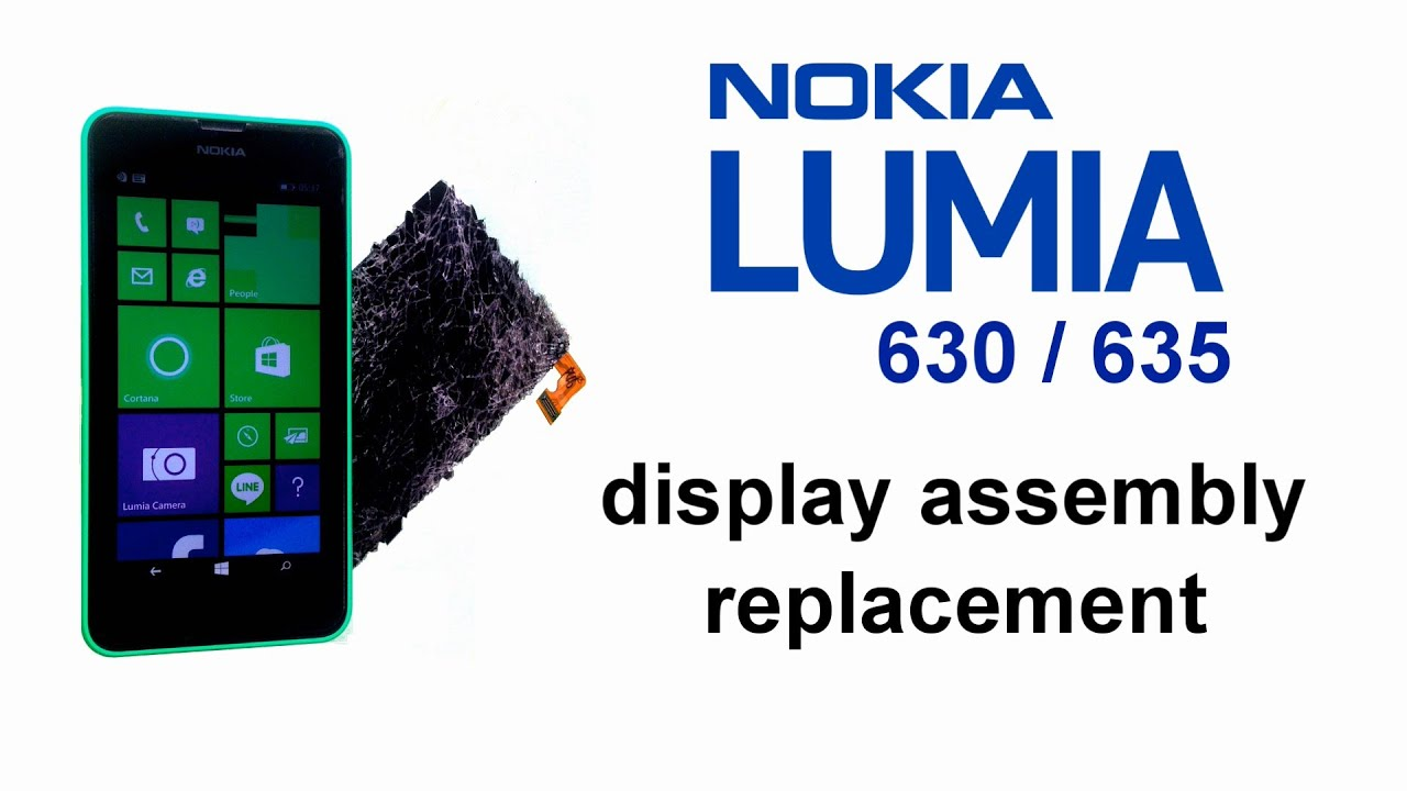 1eb36b2e589 Nokia Lumia 630 Lumia 635 - Screen replacement, Broken Glass Digitizer  Replacement, Display Assembly