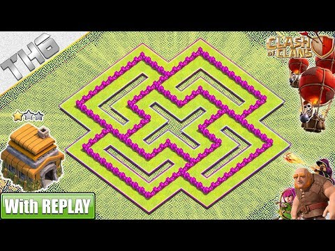 TH6 Base 2019 With REPLAY!! Town Hall 6 Hybrid Base With Copy Link - Clash Of Clans