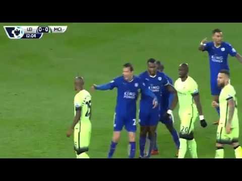 Лестер 0 - 0  Манчестер Сити обзор 1-го тайма.Лучшие моменты