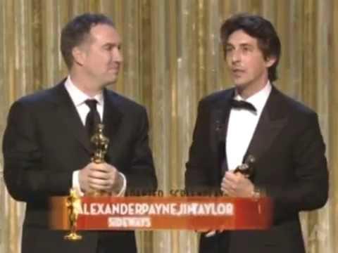 Sideways Wins Adapted Screenplay: 2005 Oscars