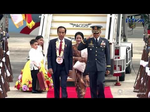 Arrival of Indonesian President Joko Widodo 11/12/2017