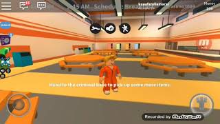 Roblox's Gameplay fleeing from prison