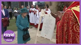 The Queen Visits Manchester Cathedral