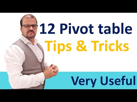 12 useful Pivot Tables Tips & Tricks everyone should know