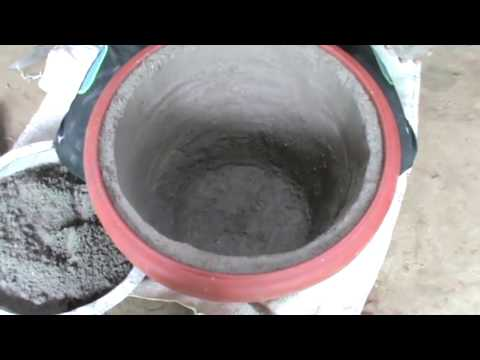 How to make BIG cement or concrete pots (20'' Inches). DIY P