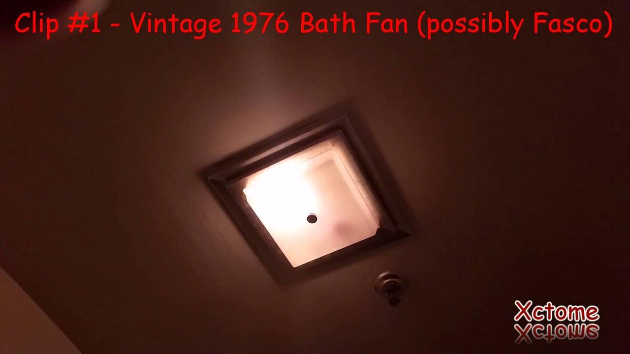 3 Bath Fans Vintage 1976 fan/light unit, an older AirKing ...