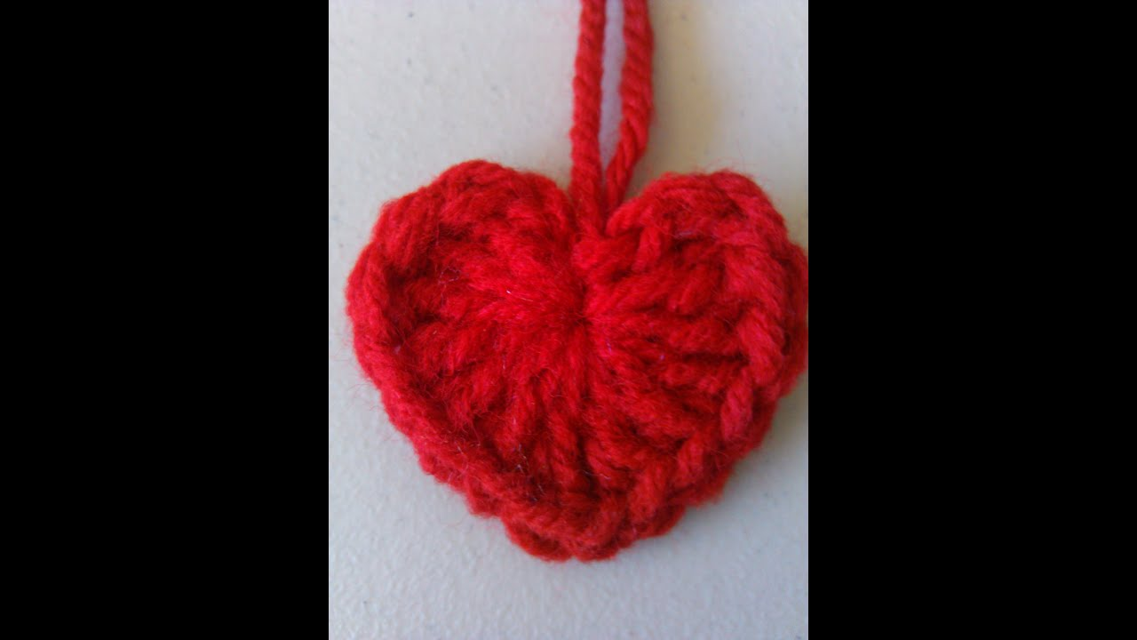 Crochet Heart : Crochet heart style 1 - YouTube